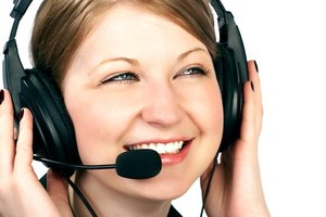Most customer service representatives speak on the telephone.