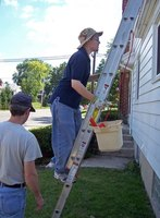 Cleaning gutters is usually an easy process.