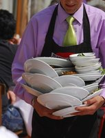 Food and beverage servers are employed in a range of eating establishments.
