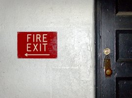 Fire signage helps people quickly escape a burning building.