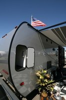 A travel trailer may be used for camping or temporary housing.