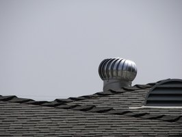 Turbine vents coupled with other roof vents is an effective air mover