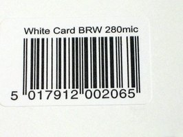 Bar codes identify a product when scanned.