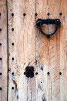 Select hardware to accent your rustic wooden door.