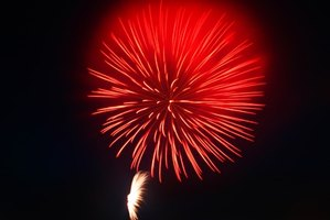 Some fireworks owe their reddish hues to strontium reactions.