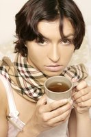Staying hydrated with warm tea is one way to ease cold weather congestion