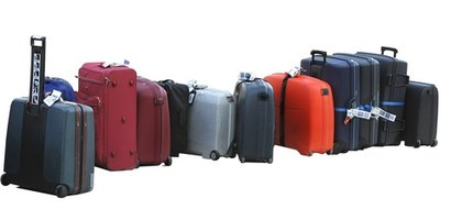 Hard shell suitcases are useful for storage and can be turned into creative furniture.