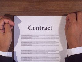 A contract termination letter must be in accordance with the original contract.