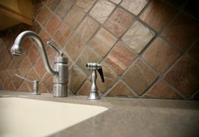 The most common size of tumbled marble for backsplashes is four inches.