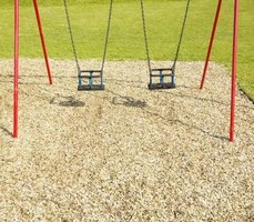 Wood chips are installed for safety in most playground areas.