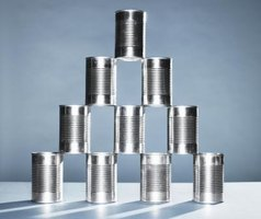Save money on food by purchasing canned goods in bulk.