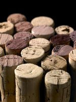 Used wine corks can be made into rustic home accents