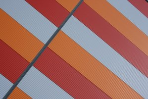 Plastic corrugated roofing panels come in a variety of colors.