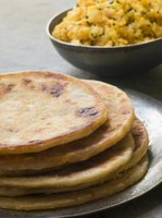 Flat bread is an integral part of Indian cuisine.