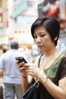 Tweeting with a cell phone allows users to keep in touch from almost anywhere.