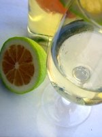 Citrus wine and vodka punch is a popular party drink.