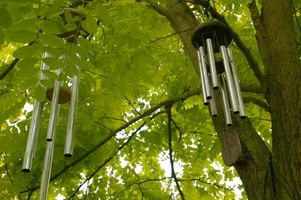 Wind chimes come in a variety of materials.