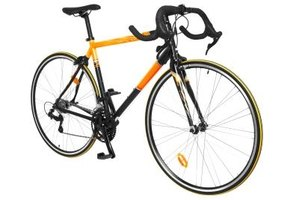 Road bikes use brakes specially designed for their narrow geometry.