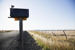 Rural homeowners often make their own mailbox posts from 4 by 4 lumber.