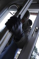 A door jamb can be damaged during a break-in.