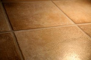 Remove yellow stains to maintain a tile floor.