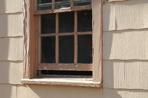 Old double-hung windows use a pulley-and-weight system.