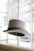 Top hats often capped off a Victorian era gentlemen's hairstyle.