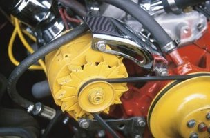 The alternator provides the majority of electrical power for the vehicle.