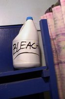 Use bleach to disinfect areas.