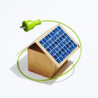 An inverter will help you convert DC solar energy to AC power.