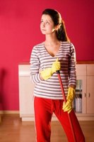 Cleaning floors is easier with a mop in good condition.
