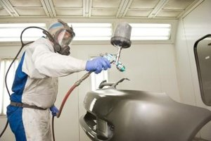 Aerosol spray cans are available for bumper refinishing projects at home, eliminating the need for spray guns.