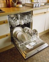 The use of regular dish soap in a dishwasher causes an overflow of suds.