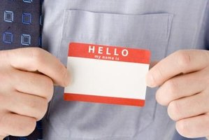 Add excitement to your workplace or event by spicing up dull name tags.