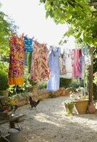 Dry your clothes on a clothesline instead of using a dryer.