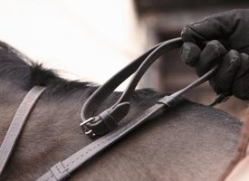 Attaching rhinestones can add a touch of glamour to horse equipment.