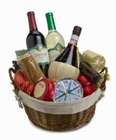 Gift baskets can be made in any shape or size.