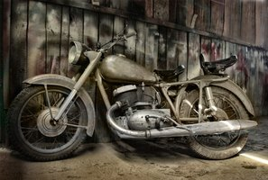 Salvage-title motorcycles are legal to own, but not legal to ride.