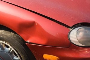 An auto body repair panel can replace this fender to make it look like new.
