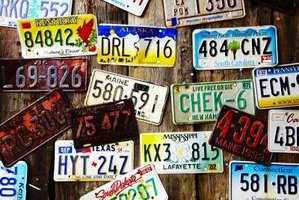Looking up a license plate number is a simple process.