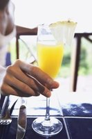Mimosas consist of two ingredients for an adult version of a morning juice.