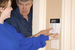 Alarm keypads are the user-control interface for home security systems