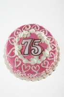 Make special decorations to celebrate a 75th birthday.