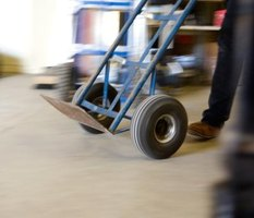 Properly inflated tires on a hand truck provide the stability to move heavy items.