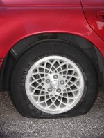 A corroded area of the rim will cause a tire leak.