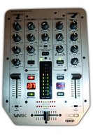 A DJ mixer allows you to blend two tracks together.