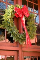 Make your own Christmas wreath with fresh evergreens from your yard.
