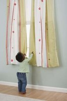 Give your old bed sheets a new purpose by turning them into light curtains.