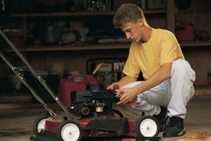 A Briggs & Stratton lawn mower engine utilizes a magneto coil to generate spark for the spark plug.