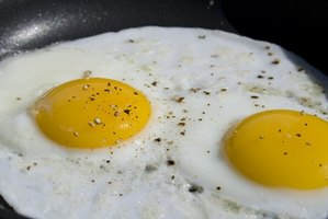 Fried eggs can be cooked to perfection in cast iron.